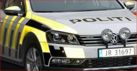 Av vegen: Ein personbil kjørte av vegen i Røn, og redningsetatane måtte rykke ut.