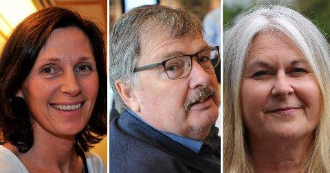 BEROMFRITAK:Tre av politikerne i kommunestyret som nå ber om fritak; f.v. Ann Kristin Bakke (H), Dag Westhrin (SV) og Edith Cecilie Loftheim (Sp).