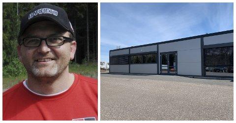 ENTUSIAST SATSER: Tron Edvin Skjauff har akkurat fått nøkler og er klar for å starte sin nye bedrift her på Vear.