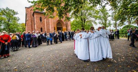 Konfirmasjon i Ås kirke søndag 9. september 2018.