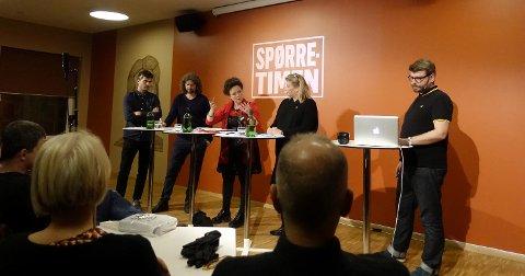 I panelet: Byråd Anna Elisa Tryti var en av fire som utgjorde panelet under gårsdagens spørretime.