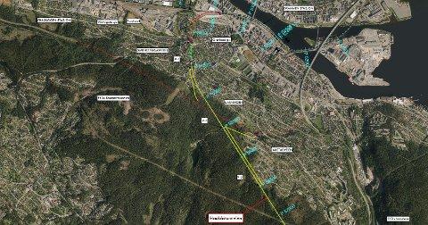 TUNNEL: Det kommer midler til ny jernbanetunnel fra Drammen stasjon til Kobbervikdalen i statsbudsjettet.