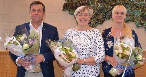 TOPPER LISTEN: Fredrik Haaning, Kristin Surlien (t.h.) og Elly Therese Thoresen.