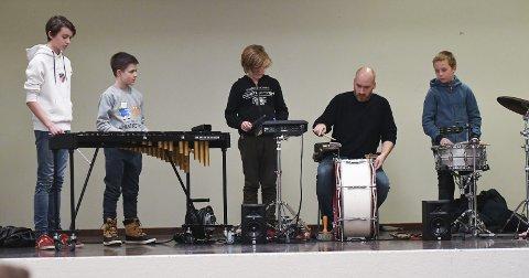 Skal spille: Slagverkgruppa er blant dem som skal spille under konsertene søndag.