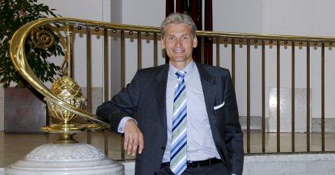På toppen: Thomas Borgen jobber i staselige omgivelser ved hovedkontoret i København. Hverdagen som konsernsjef er likevel preget av hardt arbeid med finanskrisen i bagasjen og i en bransje i voldsom utvikling.  arkivfoto: Lill Mostad