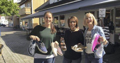 GIR BORT OMSETNINGEN: Daglig leder Tabita Meland, eier Birgit Linkas og selger Trine Fjeld Olsen.Foto: Marianne Holøien