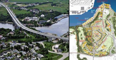 Det er store planer for området Gretnes og Sundløkka, som ligger i triangelet mellom E6, riksvei 11 og Glomma. Endringer etter forrige høringsrunde er ikke innarbeidet i illustrasjonen til høyre.