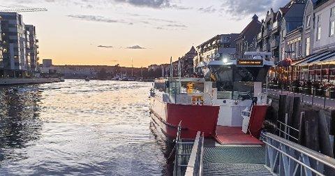 Byfergene mellom Gamlebyen og Ålekilen flyttet 84.715 passsjerer i juli måned.