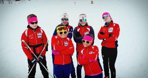 BJERKVIK-SKISKYTTERE: Bjerkvik sin unge skiskyttere avsluttet sesongen sist helg.