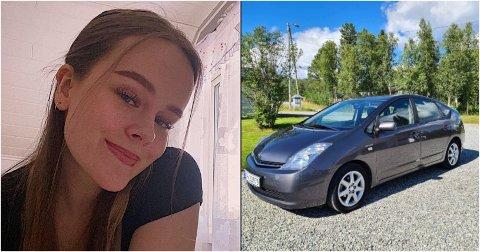 STJÅLET: Agnes Evenstads Toyota Prius ble funnet i Tromsø.