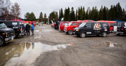 Glimt fra russetreffet på Birkebeinerstadion på Lillehammer.
