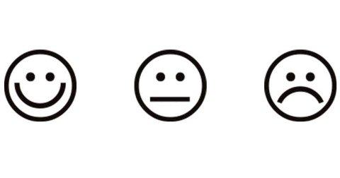 FORSKJELL: Så langt har Mattilsynet delt ut mange smilende fjes på Hadeland. Et sted har fortsatt strekmunn. Illustrasjon: Mattilsynet