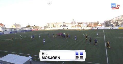 Harstad - Mosjøen 1. runde i cupen. Harstad stadion MIL tapte 3-5.