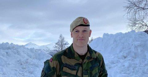 TAKKNEMLIG: Major Eirik Skomedal, talsperson for Hæren, sier at amerikanerne er takknemlige for at kunne komme til Harstad.