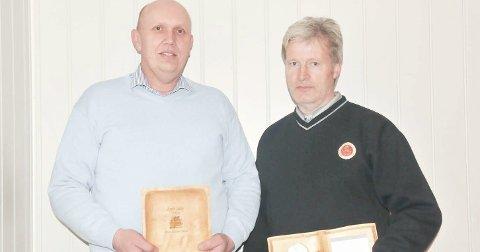BLE HEDRET: Nils Henry Trovåg (t.v.) og Harald Bogstad ble tildelt prisene Årets sliter og Sportsprisen 2016.