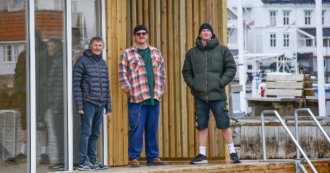 Sigurd Gausdal, Daniel Theodor Jangmar Paulsen og Jo Borkhus er noen av drivkreftene bak det nye badstuprosjektet.