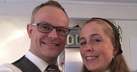 OVERRASKELSE: Celine Refsnes og mannen Ole-Andreas Refsnes, som er styreleder i Prinsdal skolekorps.