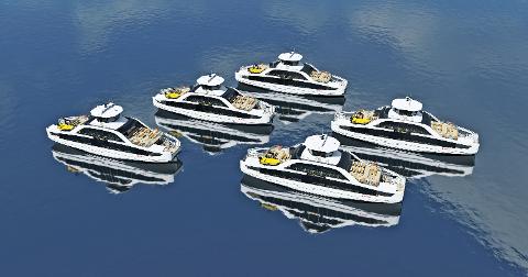 FEM NYE BÅTER: I disse dager bygges fem nye båter som vil bli satt inn i trafikk i Indre Oslofjord i 2021.