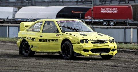 Espen Kolstadbråten fra NMK Valdres slo til med andreplass i den første NM-runden i rallycross. Foto: privat