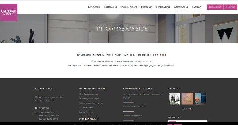 MELDING: Garderobemannen skriver på hjemmesiden sin at de har begjært oppbud 24. april.