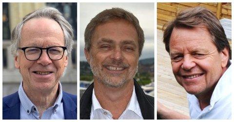 SIER IFRA: Hallvard Grotli, Carsten Bleness og Tom Torkehagen er alle tidligere redaktører rundt Mjøsa.