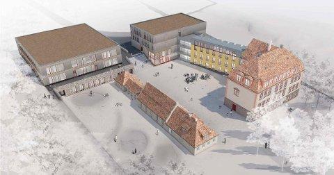 KLIMASATSING: Oppegård kommune vil gjøre utbyggingen av Kolbotn skole så miljøvennlig som mulig, og søker nå støtte til dette.