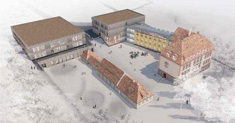 DOBBELT SÅ STOR: Med to nye bygg får Kolbotn skole plass til 784 elever, mot dagens 316.