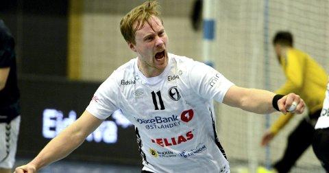 FAVORITTER: Nikolaj Mehl og Elverum gjester tabelljumbo Nøtterøy søndag kveld.Foto: Anita Høiby Gotehus