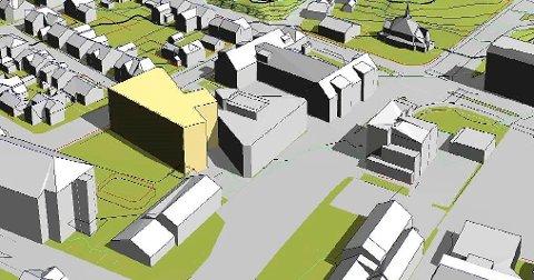 NYTT: Slik planlegges nybygg, Østsiden skole til venstre.