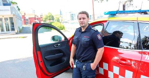 BRANN: Brannsjef Morten Meen Gallefos lager ledergruppe.