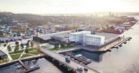 PLANEN: Slik ville de bygge ut eiendommen ved elva.