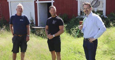 River: Tor Hylland (gårdeier), Kristoffer Moen og Lars Christensen.