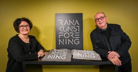Rana kunstforening står bak årets Vinterlyskunstner, Marianne Heske. Eva Sundsvold og Geir Rønning er i full gang med planleggingen.