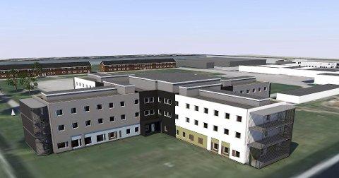 NY DEL: I 2017 sto denne fengselsdelen med plass til 96 innsatte klar på Ullersmo. Nå ønsker fengeslet å bygge et tilsvarende bygg i fengselet. Illustrasjon: Skanska Husfabrikken/Leitnes arkitektkontor