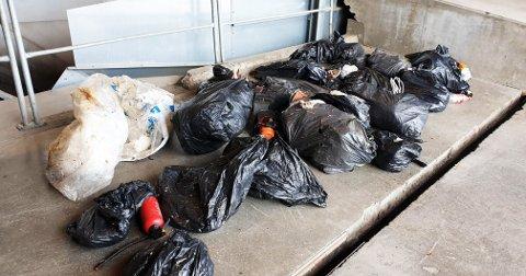 KASTER FEIL: Det er ikke sjelden at avfallsselskapet finner svarte søppelsekker i vanlig restavfall utenfor husene til innbyggerne. – De kan føre til stopp i sorteringsanlegget vårt.