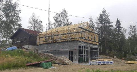 Ny fløy: Bygget har vokst i løpet av sommeren.