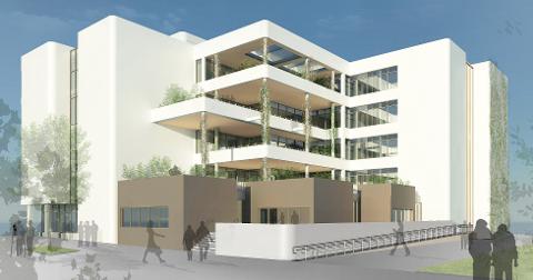 Det nye sykehjemmet i Sola skal se frodig ut fra utsiden. Kommunen har derfor investert i et automatisk vannanlegg som skal holde liv i plantene.