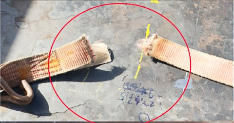 TVERT AV: Stroppen som holdt den ene stålplaten på plass hadde røket tvert av