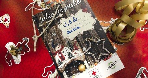 Ønskekort: Ønskene behandles helt anonymt av Frivilligsentralen. Nå har mer enn 78 kort blitt delt ut og gavene strømmer på.