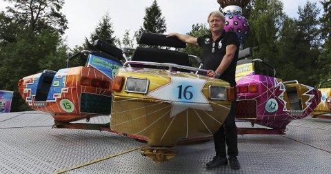 SJEF: Mikael Andreasson tar med seg Axels tivoli for å lage høst-moro i Tønsberg.