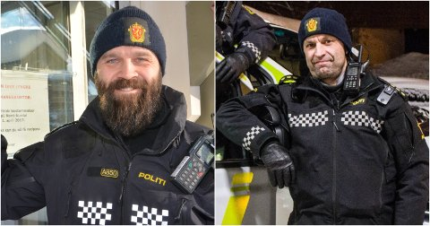 NYE JOBBAR: Bård Høston (t.v.) og Svein Tvenge har fått jobbane som politikontaktar i høvesvis Nord-Aurdal/Vestre Slidre og Øystre Slidre/Vang.