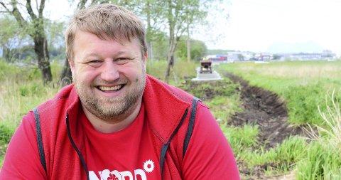 Tursti og drenering: – Dette kommer både Bodø-folket og landbruket til gode, forklarer Øyvind Pedersen.Alle foto: Anders Bergundhaugen