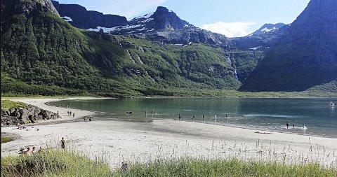 Strandlig: Herlig på Brennviksanden. Foto: Reidar Berg