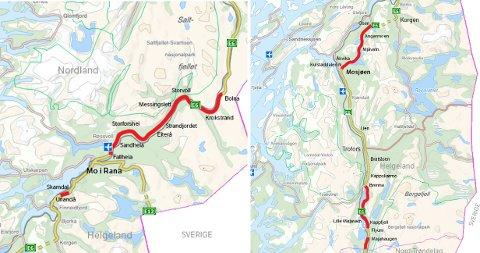 Kart: Statens vegvesen
