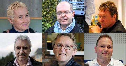 SEKS AV SØKARANE: Gro Rukan, Pål Fidjestøl, Birger O. Nedberge (Rekkefølge oppe frå venstre), Eivind Husabø, Aud Kari Isane, og Ingvar Torsvik Myrvollen (rekkefølge nede frå venstre) er seks av søkarane på stillingar utlyst hos Fredskorpset.