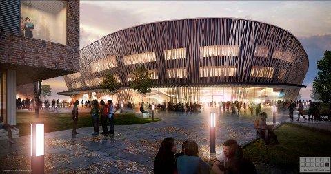 Arena Fredrikstad og adkomsttorg.