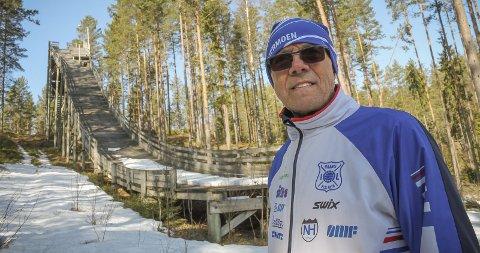 RIVES: Tidligere leder i Granli IL Otto Kristiansen synes det er litt vemodig at Granli bakken må rives.