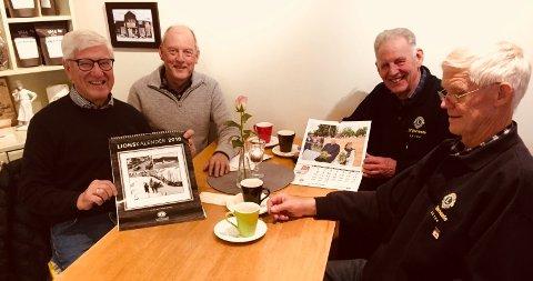 SELGER LIONSKALENDEREN 2018: Fra høyre Ole Håvard Ingberg og Jan Tørudbakken fra LC Nes Hedmark og Johannes Haugen og Jarle Kalseth fra LC Ringsaker.