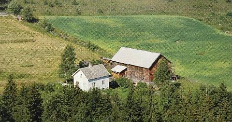 På dette bruket fik en husokkupant likevel bo fordi storbonden syntes han var så morosam. Bildet er hentet fra boka.