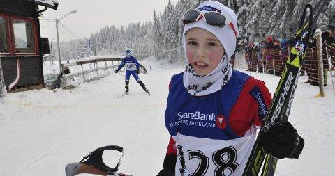 MÅL: Elling Broberg fra Jevnaker var fornøyd med sitt første skirenn for sesongen.